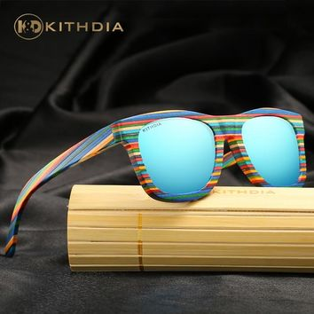 KITHDIA 100% Handmade Wooden Sunglasses Cute Design for Men Women gafas de sol steampunk Cool Sun Glasses With Wooden Box