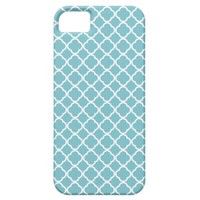 Blue Curacao And White Fleur De Lis Pattern iPhone 5 Cases from Zazzle.com