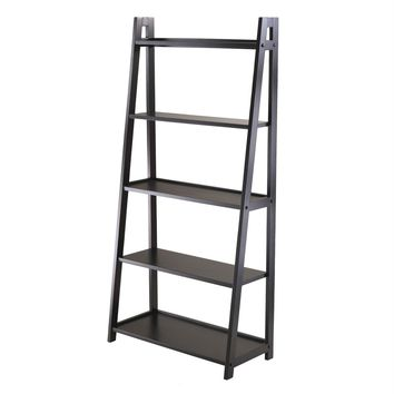 Attractive 5 Tie Black Frame Shelf by Winsome Woods