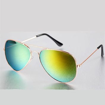Fashion Vintage Sunglasses Aviation Men Women Brand Designer Mirrored Retro Feminine Sun Glasses Male Female Sunglass