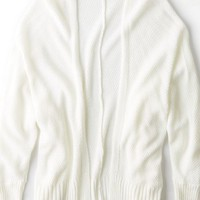 AEO Women's Don't Ask Why Open Cardigan (Natural White)