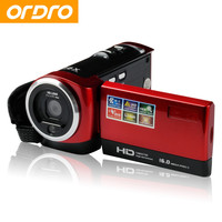 Ordro DV-107 2.7 inch Digital Photo Cameras with Face Recognition HD 720P 16X Zoom Video Recorder Camcorders