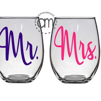 Mr and Mrs Gift, Engagement Gift, Bride to be Gift, Proposal Gift,  Wedding Bride Wife, Bridal Shower Gift, Future Mrs.