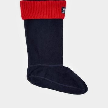 Hilston French Navy Fleece Welly Socks | Joules US