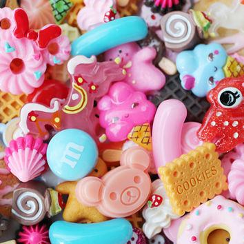 25pcs decoden sweets and kawaii assorted cabochons by snapcrafty