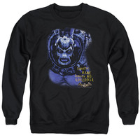 BATMAN AA/ARKHAM BANE - ADULT CREWNECK SWEATSHIRT - BLACK -