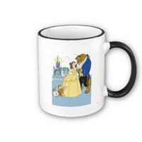 Beauty & the Beast Belle and the Beast Dancing Coffee Mug from Zazzle.com