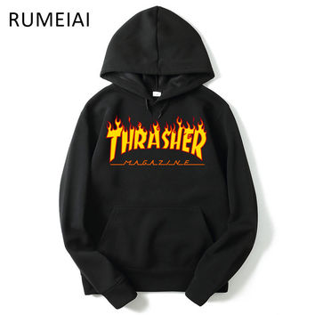 New Thrasher Hoodie Men Streetwear Tracksuit pull Skate Sudaderas Mens hoodies and sweatshirt magazine skateboard trasher jumper