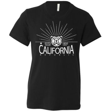 California Golden State White Print Asst Colors Youth T-Shirt/tee