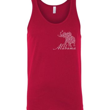 Official NCAA Venley University of Alabama Crimson Tide UA ROLL TIDE! Elephant White Unisex Tank - 67MOAL1