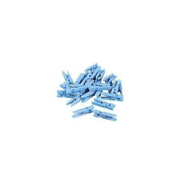 """48 pc Mini Blue Clothes Pins 1.25"""" Clothespin Game Wedding Baby Shower"""
