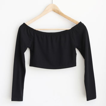 Noemi Shoulder Crop Top - More Colors