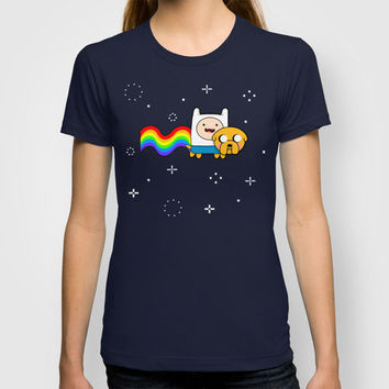 Nyan Time: Adventure Time plus Nyan Cat T-shirt by Olechka | Society6