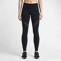 The Nike Legendary Fabric Twist Veneer Tight Women's Training Pants.