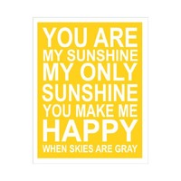 Supermarket: YOU ARE MY SUNSHINE 11X14 INCH POSTER PRINT from Finny and Zook