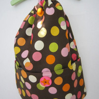 Backpack Polka Dot  Lightweight Gym Bag or by threesistersharvest