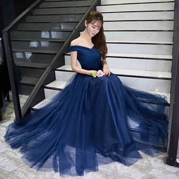 A Line Off the Shoulder Tulle Long Maternity Evening Dresses for Pregnant Women Formal Gown Prom Party Dress robe de soiree