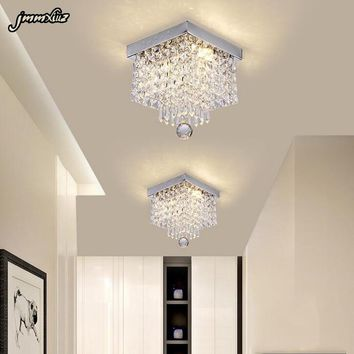 Fashion square crystal led Chandeliers LED lamps restaurant corridor high power LED Chandelier  led lustre light Chandeliers