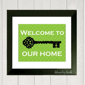 Home Art  Welcome to our Home  8x10 by DeliveredByDanielle on Etsy