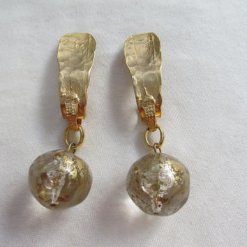 Italian Free Formed Dangling Earrings