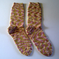 Ready to ship. Women's / teenager hand knitted bamboo socks. UK 4, US 6 , EU 37