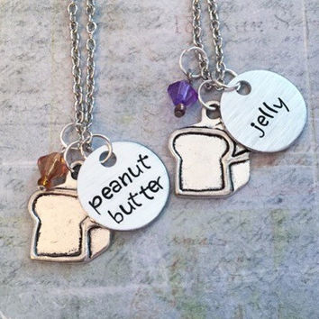 You Are The Peanut Butter To My Jelly Best Friends Necklaces, Peanut Butter and Jelly Necklaces, Best Friends Jewelry, Sisters Jewelry, Food