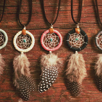 FREE SHIPPING Dreamcatcher necklace with by EcoDesignProject