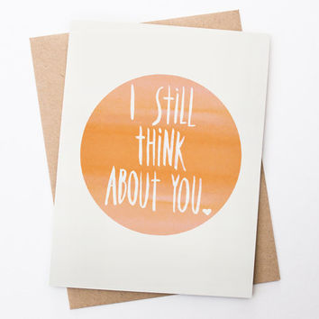 Cute Valentine Card for Ex - I Still Think About You