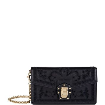 Dolce & Gabbana Mini Lace Lucia Clutch Bag | Harrods.com