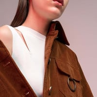 Corduroy Collared Jacket