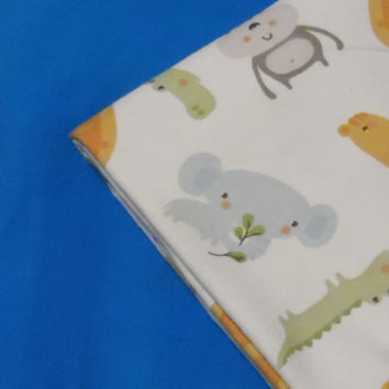 Baby Blanket Zoo Animals Flannel Personalized Blanket