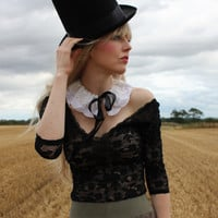 Lace Detachable Collar by rougepony on Etsy