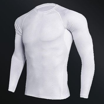Simple Cool Compression Long Sleeve Workout Shirt
