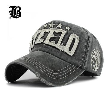 Fashion Mens Casquette Baseball Cap Women Polo Washed Denim Caps Hip Hop Fitted Casual