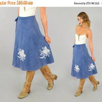 SALE 70's Marine Invertebrate Wrap Skirt