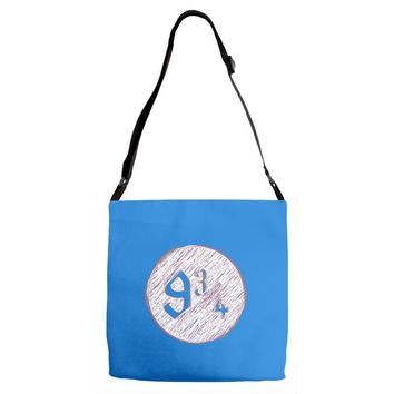nine three quarters harry potter hogwarts Adjustable Strap Totes