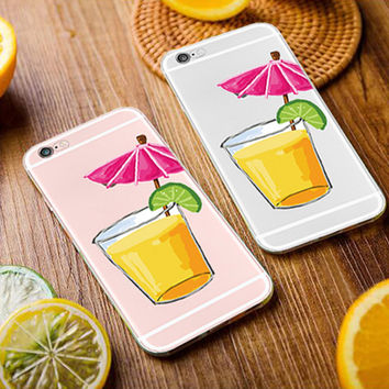 Watercolor Orange juice iphone case