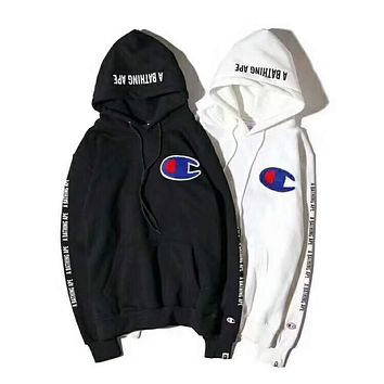 BAPE X Champion joint plus velvet hooded sweater F-CN-CFPFGYS