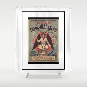 French Baphomet Shower Curtain by Kathead Tarot/David Rivera