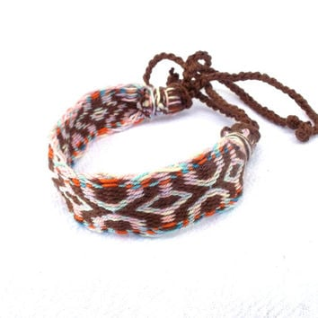 friendship bracelet, colorful weave tribal braclet, weaving woven arm band, ethnic wrist band, handmade multicolor jewelry, unizex bracalet