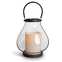 Gerson Flameless LED Candle Light School House Lantern with Timer (Indoor or Outdoor) 10-1/4-in