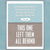 Since the Invention of the Kiss - Art Print - The Princess Bride - Quote Typography Poster - 8 x 10 Wall Decor