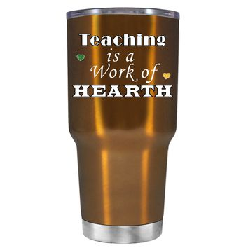 TREK Teaching is a Work of Heart on Copper 30 oz Tumbler Cup