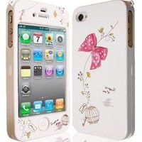 JAMMYLIZARD Cute Bow Series White / Pink Full Body Case Cover for Apple iPhone 4 & 4S:Amazon:Electronics
