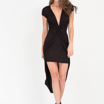 Love Me Knot Plunging High-Low Dress GoJane.com