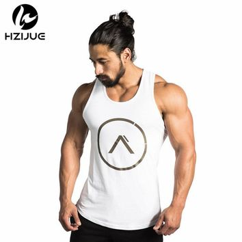 Gyms Tank Tops Bodybuilding Men Elastic Cotton Vest O-Neck Gyms Tank Top Men Sleeveless Shirts Muscle Men Fitness Tops