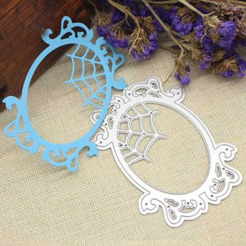 Oval Frame Metal Cutting Dies Stencils Halloween Scrapbooking Paper Cards Crafts