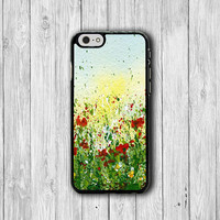 Splatter Flower Watercolor Floral ART Electronics Cases For HIM HER Christmas Gift Phone Model : iPhone 6/6S, 5/5S, 5C, 4/4S iPhone 6 Plus