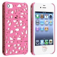 Everydaysource For Apple iPhone 4/4S Snap-on Hard Case, Pink Bird Nest Rear