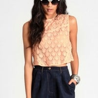 Day Trip Lace Crop Top